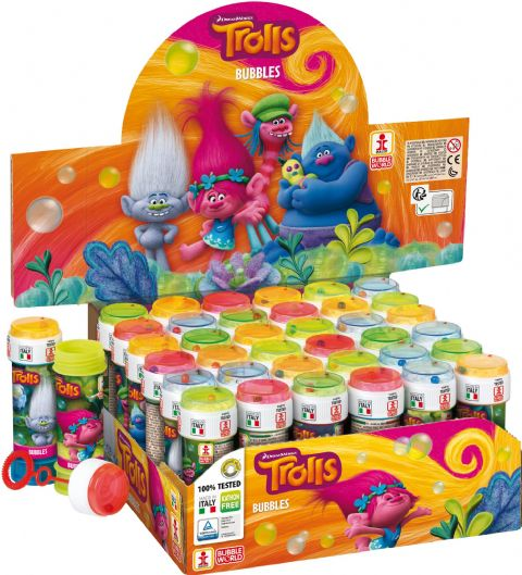 36 x Dreamworks Trolls - Puzzle Maze Tub Bubbles 60ml Wholesale Bulk Buy